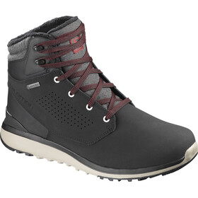 Salomon M's Utility Winter CS WP Shoes Black/Black/Red Dahlia